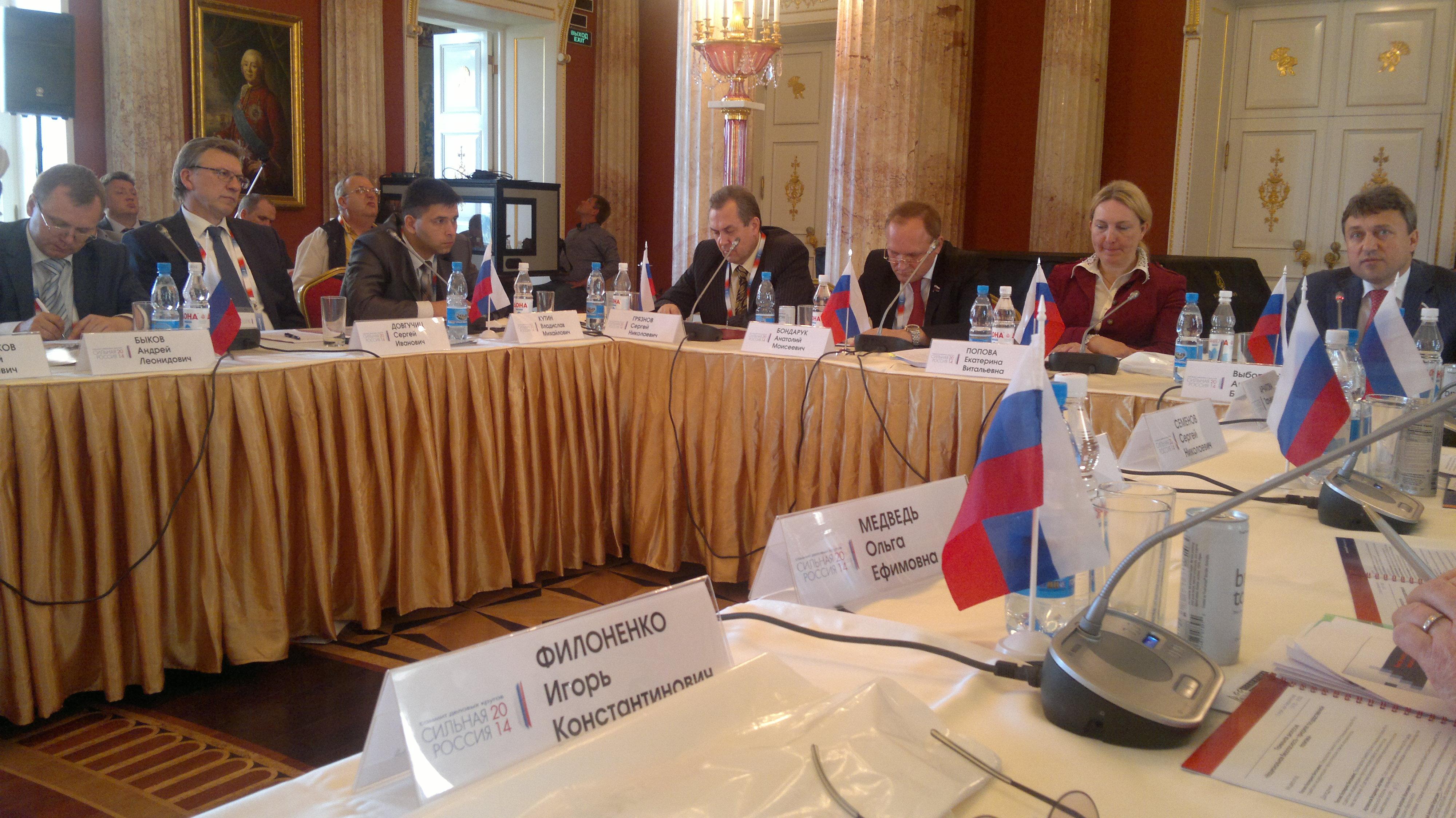 На саммите деловых кругов Сильная Россия-2014 прошла панельная дискуссия, посвященная вопросам безопасности.